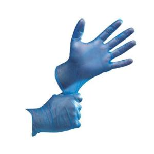 0175 Blue Powder Free Disposable Vinyl Gloves