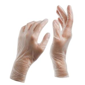 0253 Clear Powdered Vinyl Gloves