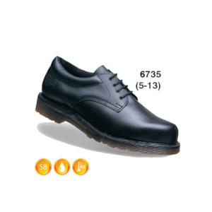 6735 Black Aircushioned Shoe