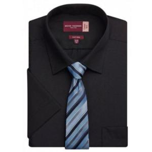 7541D Black Rossello Classic Fit Shirt