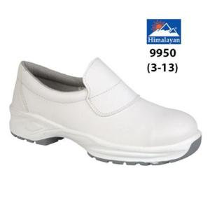 9950 White Microfibre Slip-On Shoe