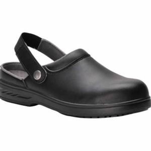 FW82 Black Clog with Strap