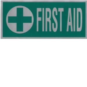 FIRST AID Green Cross Reflective back badge