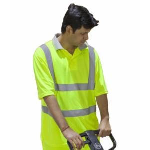 CPHVPY Yellow High-Visibility Polo Shirt